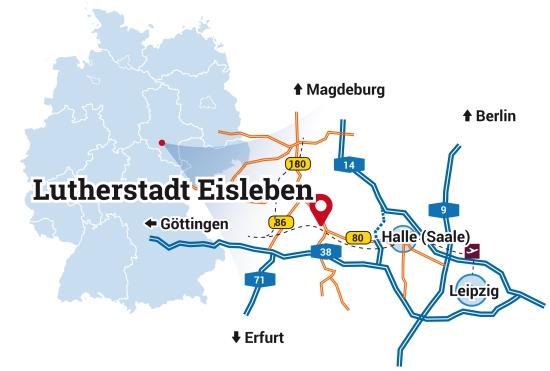 eisleben karte Lutherstadt Eisleben   Martin Luthers Heimatstadt   Standort eisleben karte